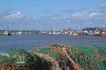 10: Looking over fishing nets towards Southwold Harbour, which borders the north of the village