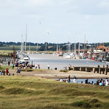 Southwold Harbour viewed from Walberswick